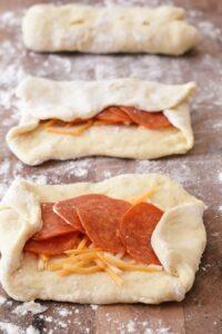 making pepperoni rolls