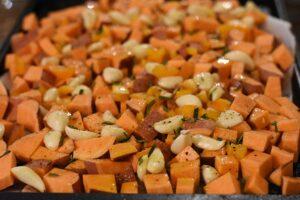 making sweet potato