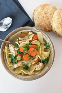 Nourishing chicken noodle soup