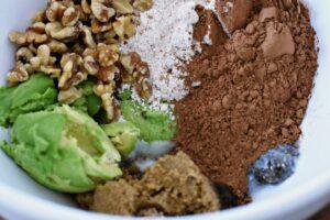 making avocado cookies
