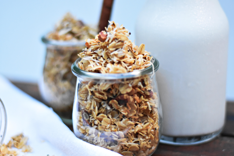spiced coconut granola