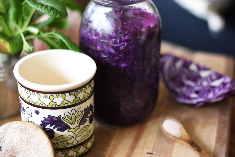 probiotic fermented sauerkraut