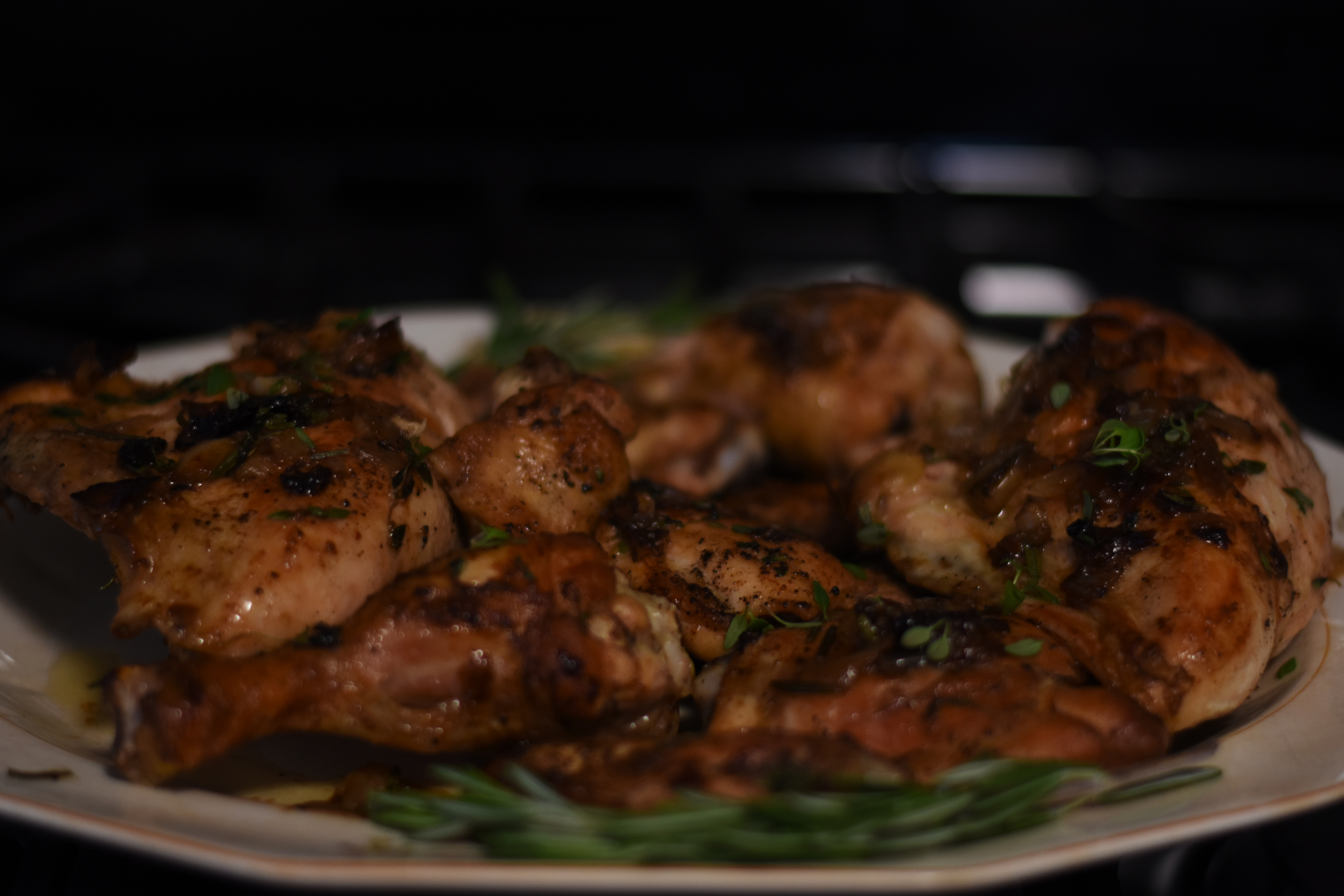 thyme and rosemary roasted chicken