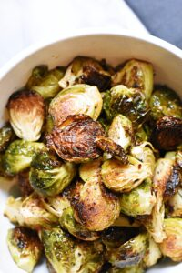Brussels sprouts with garlic browned butter