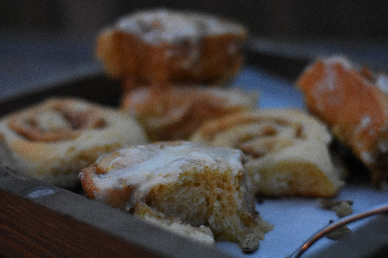 Orange Cardamom cinnamon rolls
