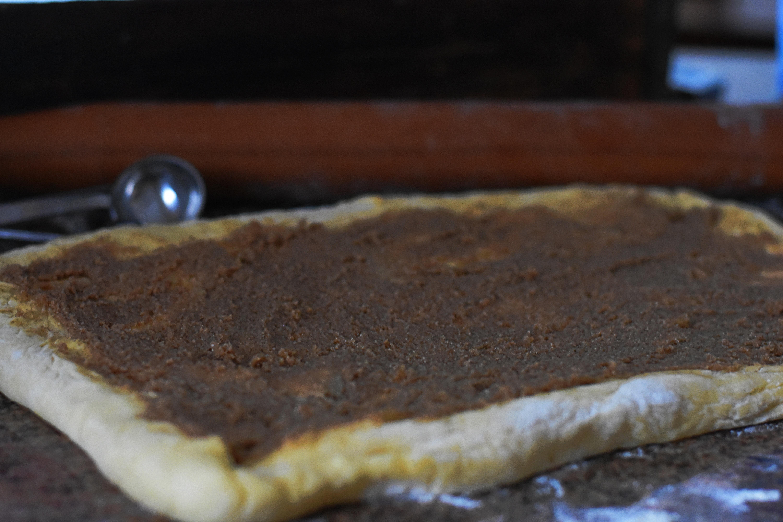 making cinnamon rolls