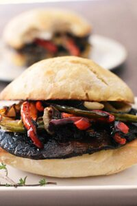 marinated portobello burgers