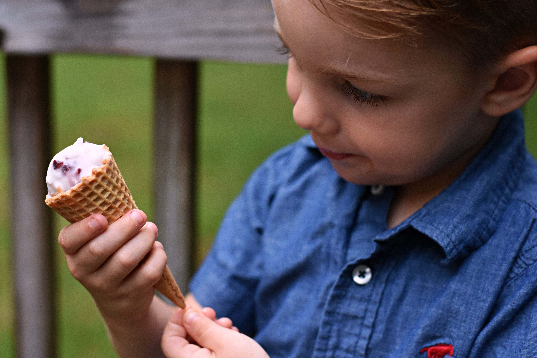 eating no-churn ice cream