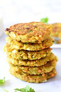 red lentil fritters