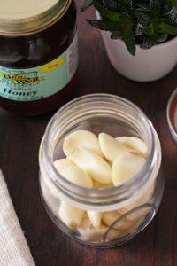 fermenting garlic and honey
