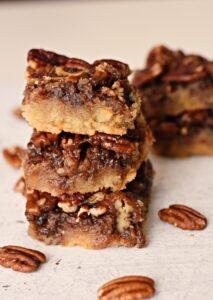 Gluten & Dairy free Pecan pie bars