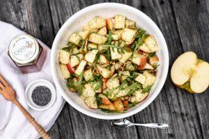 Apple salad with poppyseed vinaigrette