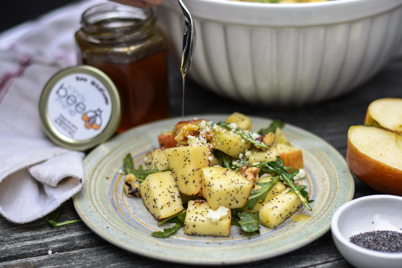 Apple & Walnut salad with Honey Poppyseed Vinaigrette