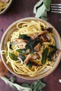 brown butter and sage pasta