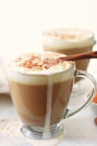 homemade pumpkin pie latte