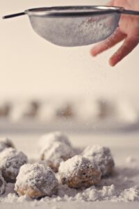 Making snowball cookies