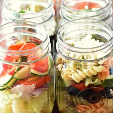 Mason jar salads 3 ways