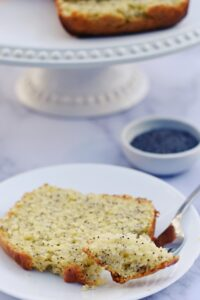 slice of lemon poppyseed bread