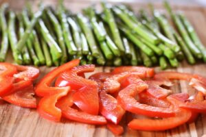 asparagus and pepper