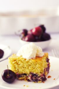one bowl cherry cake