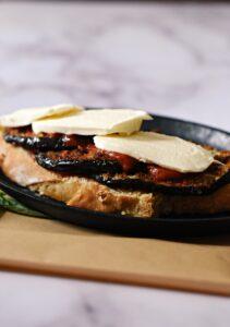 eggplant parmesan sandwich