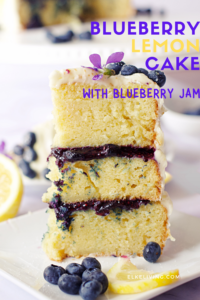 blueberry lemon cake pin
