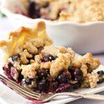 Blueberry Crumble Pie