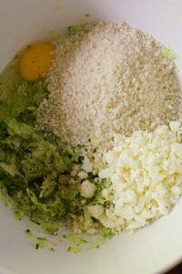 making zucchini fritters