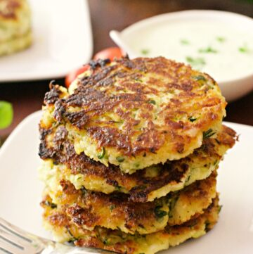 Healthy zucchini fritters